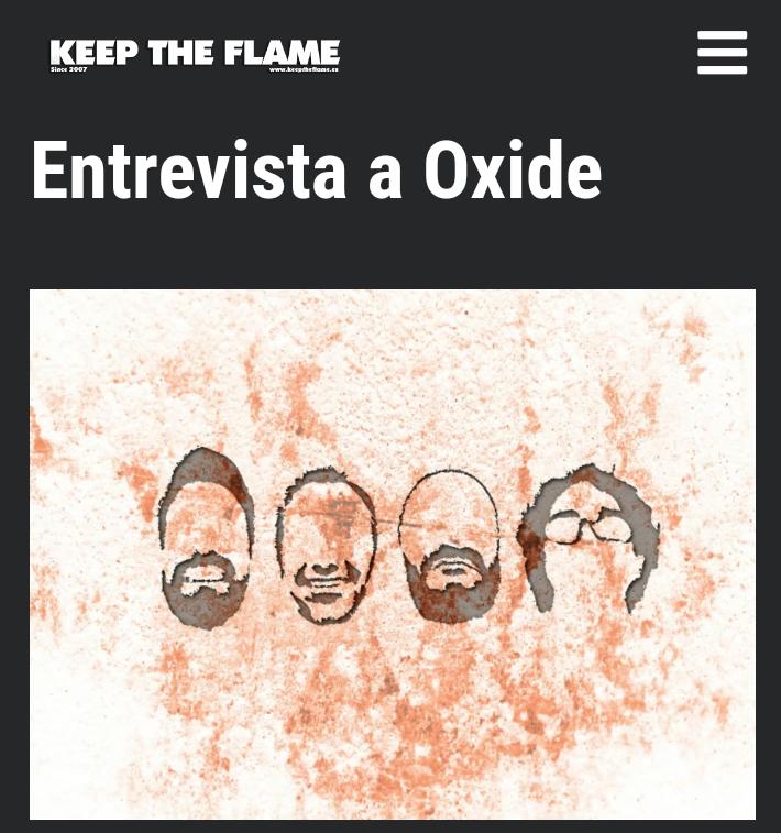 Entrevista Oxide en Keep The Flame